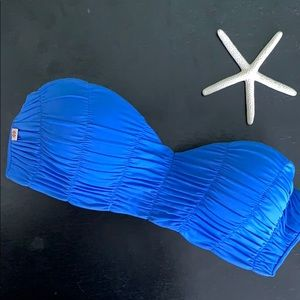 """BIKINI💧 bandeau top blue """"so teeny"""" color"""